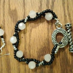 XLarge bracelet and earring set  9 1/2 to 10inches